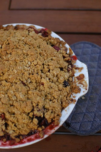 cherry crumble pie, gluten-free