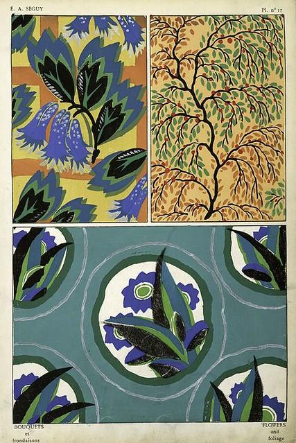 014--Bouquets et frondaisons. 60 motifs en couleur- Eugene Alain Seguy