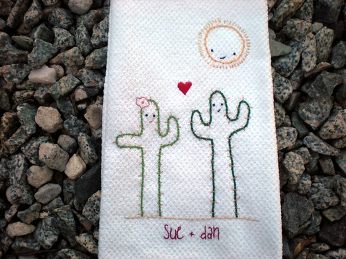 Cacti in Love Towel