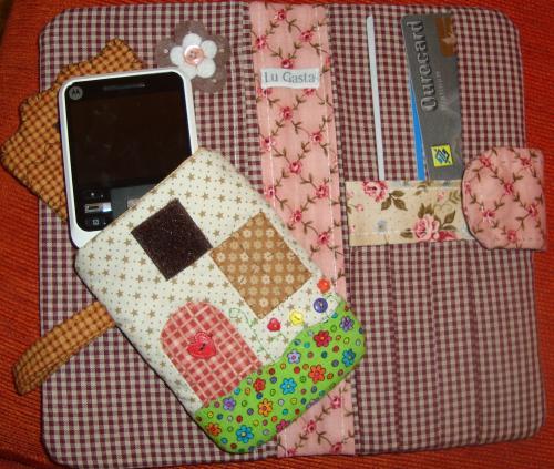 Carteira e porta celular