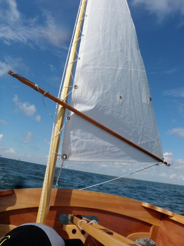 Goat island Skiff Yawl.  Tuning lug and sprit rigs on traditional craft