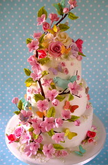 Summer blossom (nice icing) Tags: flowers wedding summer birds cake butterflies pastels icing toppers