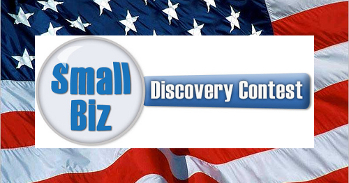 small biz discovery contest logo with American flag