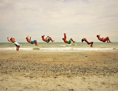 5, 6, 7, 8 (chelsea chen.) Tags: ocean myrtlebeach sand cheerleaders backflip