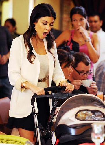 Kourtney Kardashian with Baby Mason