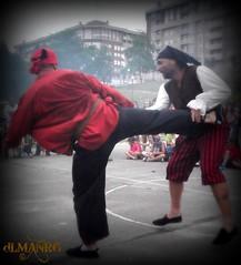 Entre piratas no hay amigos... (dlmanrg) Tags: espaa kick kicking piratas cantabria hapkido torrelavega patada