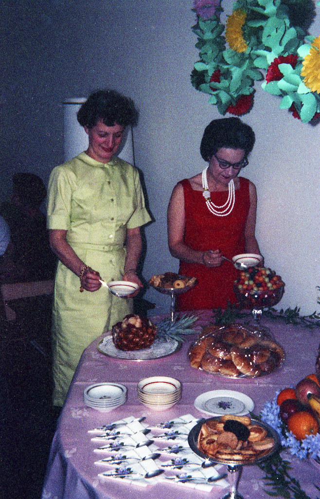 Grandma and Nanny at our Mother's Day luau, 1963
