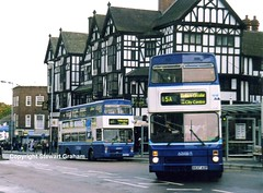Travel Coventry B837AOP and ROX617Y (MCW1987) Tags: street travel west trinity mk2 coventry midlands metrobus mcw 2837 2617 rox617y b837aop