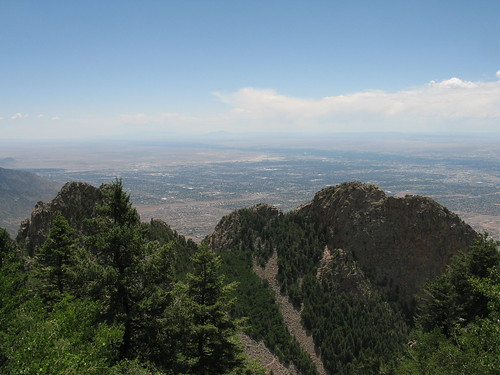 Looking down on Albuquerque, Sandia Crest via La Luz Trail, Albuquerque, NM
