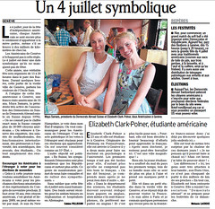 4th of July Article in Le Dauphiné Libéré, 2 July 2010
