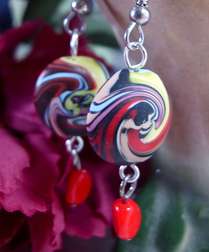 Old Lace Swirled Lentil Earrings