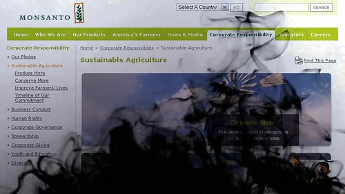 Instant Oil Spill on Monsanto'swebsite