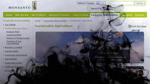 Instant Oil Spill on Monsanto'swebsite