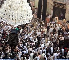 ألا من أراد أن يحضر جنازة الطيب ابن الطيب موسى بن جعفر عليه السلام فليحضر