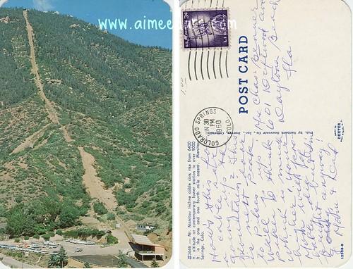 POSTCARD: Manitou Springs, CO (1960)