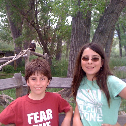 Kids with Bald Eagles, ZooMontana