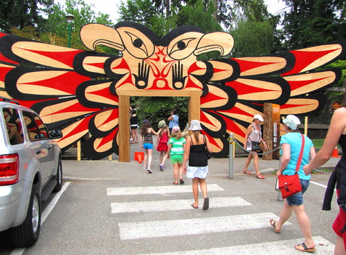 Klahowya Village First nations Culture, Dance and Tourism at Stanley Park in Vancouver