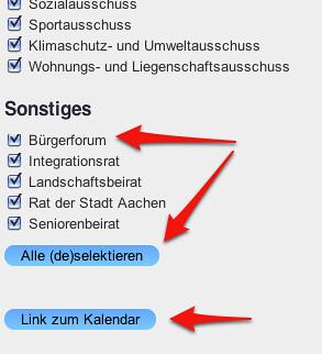 oecher.info Kalender-Konfiguration