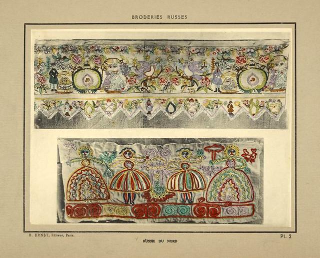 002-Cintas de paños en algodon bordado-Rusia del norte-Broderies russes tartares armeniennes 1925