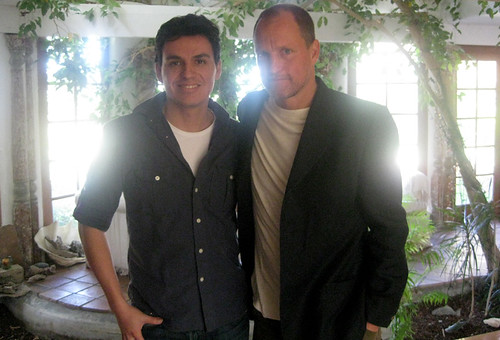Woody Harrelson and Andres Useche