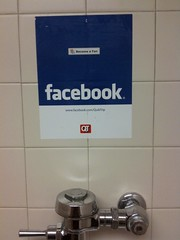 Facebook in the bathroom!