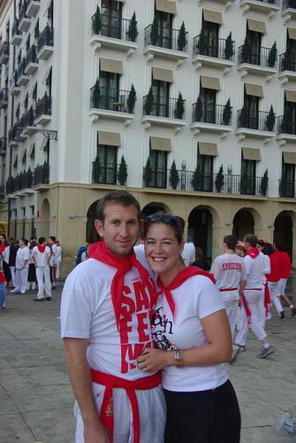 Running with the Bulls, Pamplona, 2010