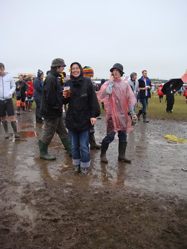 T in the Park 2010 - me in a Mucky Puddle, Peppa Pig style