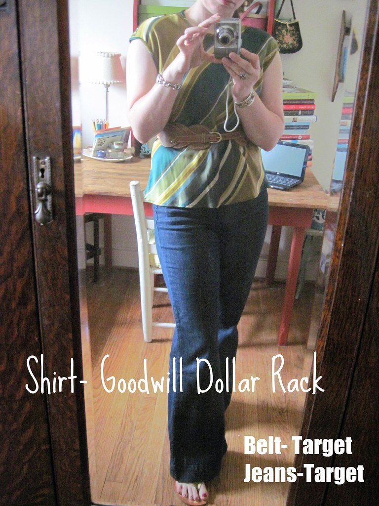 What I Wore- Goodwill Dollar Rack