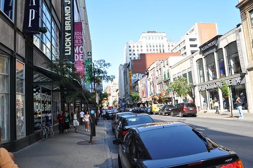 Shopping en Rue Sherbrooke