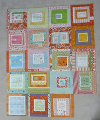 Bee-autiful quilting bee blocks (janssendesigns) Tags: quiltblock munkimunki denyseschmidt quiltingbee wonkyblock
