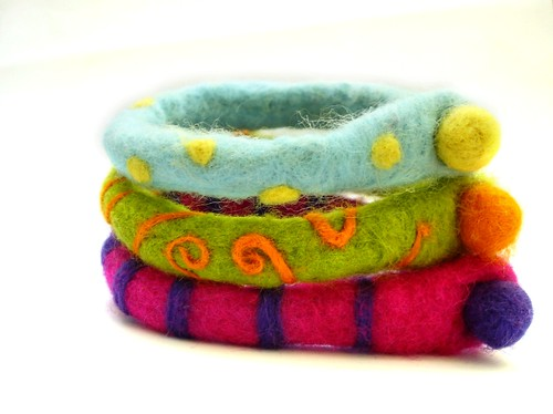 Felted Multifunctional Ankle bracelets