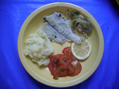 de la purée avec du poisson par exemple