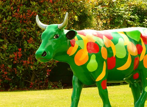 A Vegetarian Cow Made of Vegetables and Fruits