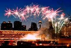 Calgary Stampede Fireworks (Surrealplaces) Tags: calgary alberta canada stampede fireworks thegreatestoutdoorshowonearth
