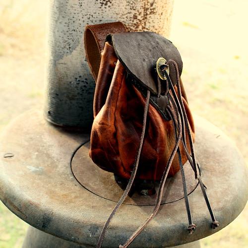 bushcraft belt pouches on bushcraft leather