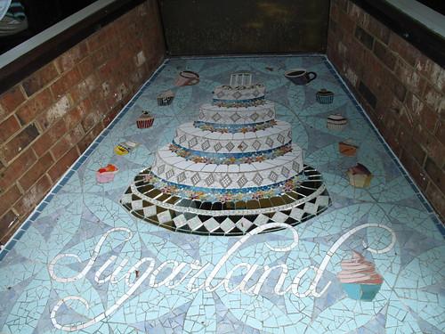 Sugarland entryway - cake mosaics!