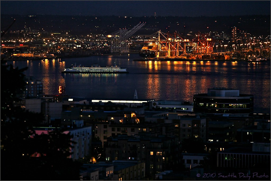Summer Night on Elliott Bay