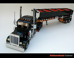 Peterbilt 379 2ND2N1, front (bricksonwheels) Tags: lego lugnuts dumper 379 lowlug chromeshop bricksonwheels 2nd2n1
