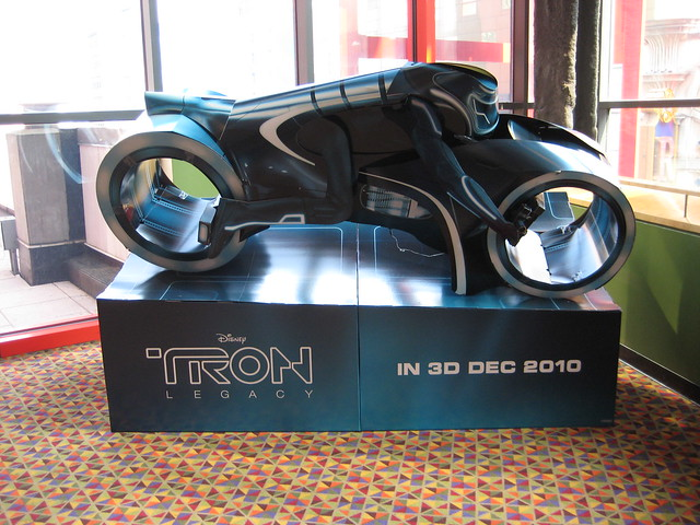 Tron Legacy Light Cycle Movie Poster Standee 2