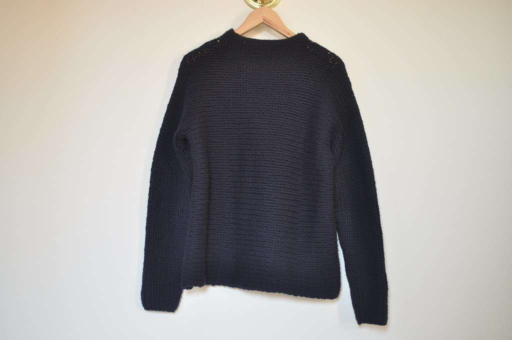 vintage navy jcrew oversized sweater