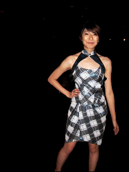 Tabby Checkered Cheongsam Separates