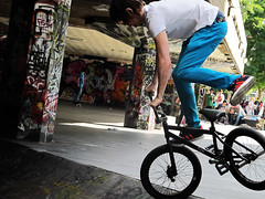 BMX Southbank 1 (preynolds) Tags: london bike graffiti bmx southbank skatepark paulreynoldsportfolio