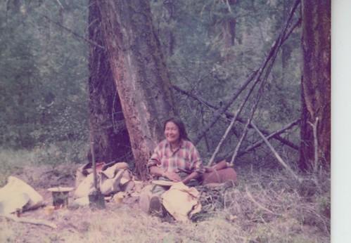 Stella Snow, a guide met while prospecting between Spence's Bridge & Merrit c.1970.