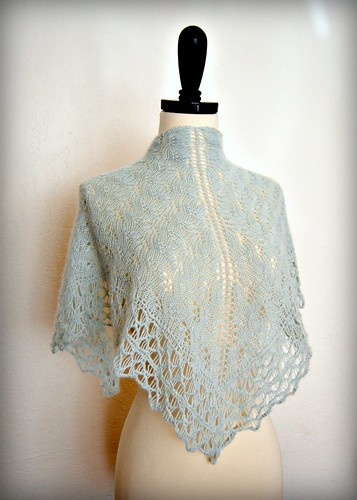 new triangle shawl
