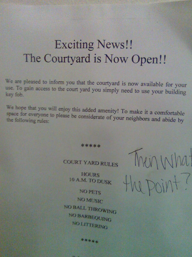 Exciting News!! The Courtyard is Now Open!!