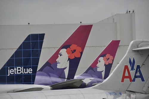 Jetblue, Hawaiian and American Airlines