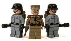German Leader & Stormtroopers (*Nobodycares*) Tags: lego nazis wwii ss stormtroopers worldwarii ww2 soldiers guns powers troops axis worldwar2 germans wehrmacht brickarms brickforge