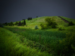 Storm Looming Over Garbage Hill (bryanscott) Tags: park canada storm green nature clouds landscape garbage winnipeg cloudy hill manitoba bxk