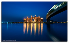 Once Upon a Time in Atlantis (DanielKHC) Tags: blue sea night digital reflections island gold hotel 1 interestingness high nikon long exposure dubai dynamic uae tracks palm atlantis explore monorail range dri hdr jumeirah blending d300 danielcheong danielkhc tokina1116mmf28 gettyimagesmeandafrica1