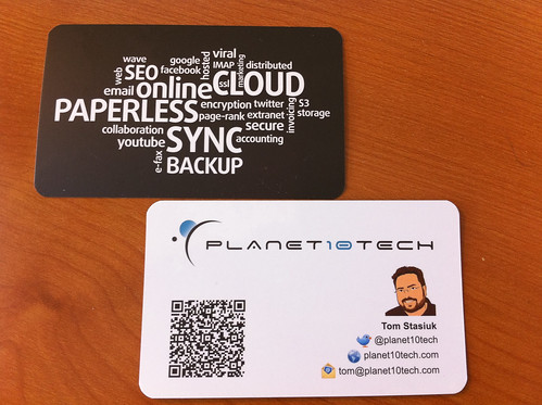 Planet10tech business card with QR Code
